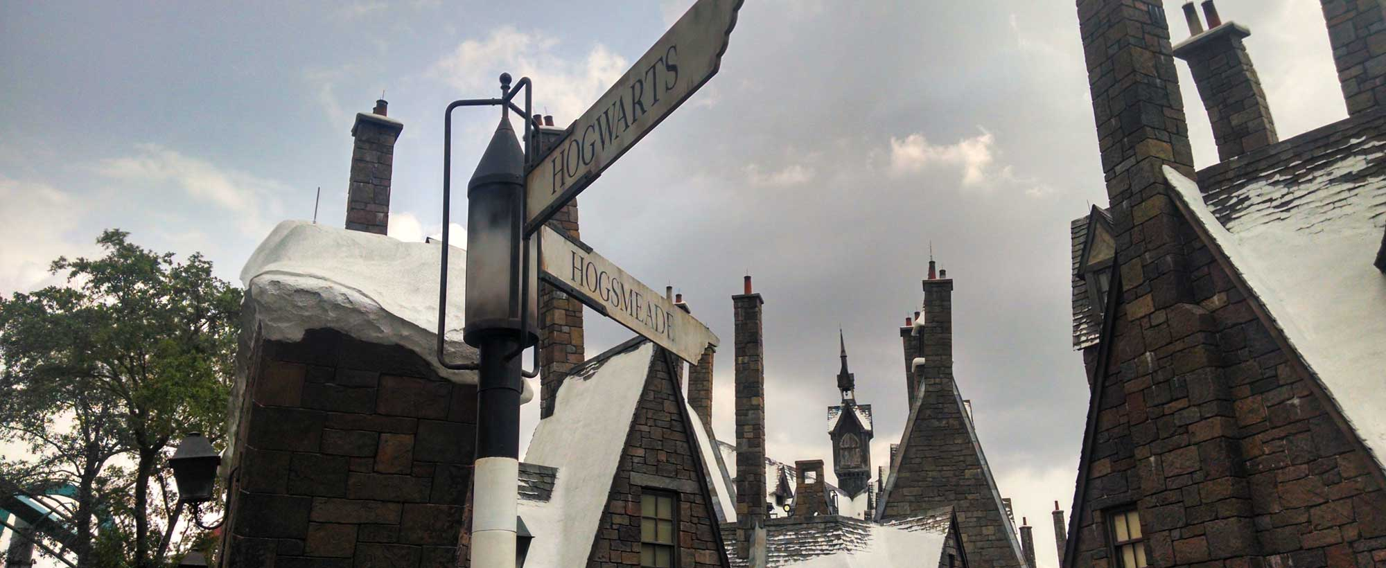 Street signs in Hogsmeade