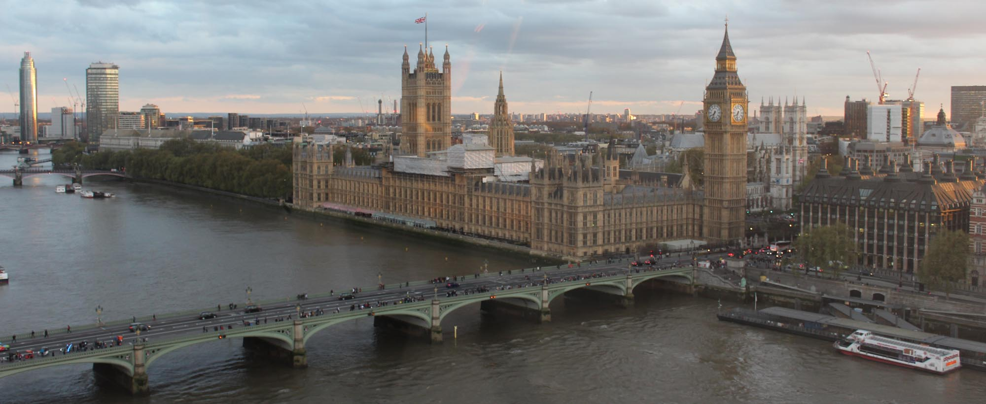 The view of London and Westminster from the Eye