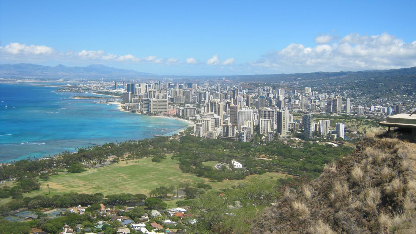 Waikīkī as seen from the top of Diamond Head