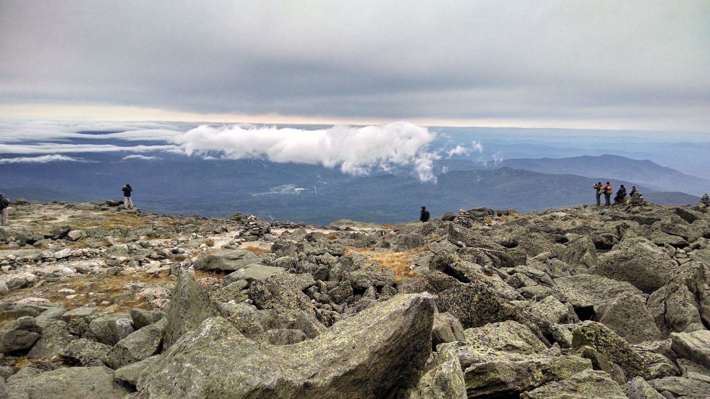 Above the clouds at the summit of Mount Washington